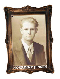 Sepia portrait of Nourdine Jensen