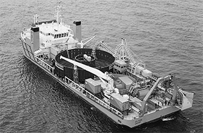 submarine cable barge