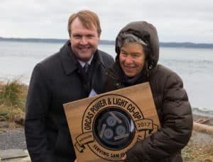BPA Administrator Elliot Mainzer and OPALCO Board Member Winnie Adams